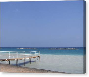 Jetty Beach.  Canvas Print