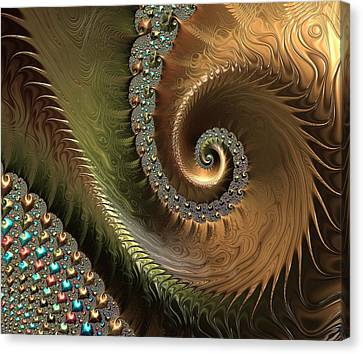 Jewel And Spiral Abstract Canvas Print by Marianna Mills