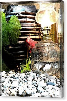 Jewel By The Lamp Canvas Print by Chara Giakoumaki