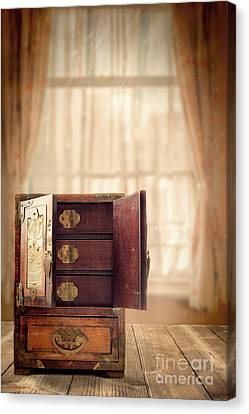 Jewel Cabinet Canvas Print by Amanda Elwell