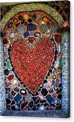 Jewel Heart Canvas Print by Susanne Van Hulst