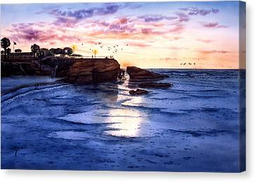 Jewel Of La Jolla Canvas Print by John YATO