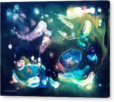 Jeweled Pegasus Canvas Print by Lee Pantas