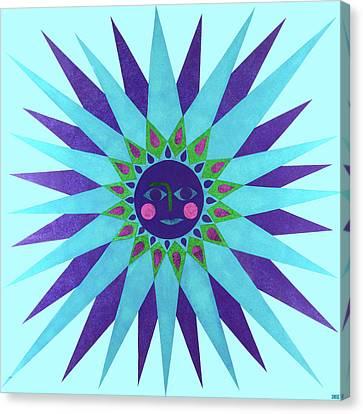 Jeweled Sun Canvas Print