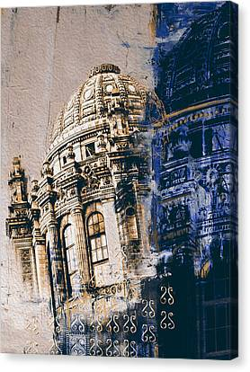 Jewelers Building 210 3 Canvas Print by Mawra Tahreem