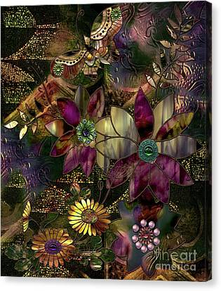 Jewelry Box Garden Canvas Print by Mindy Sommers