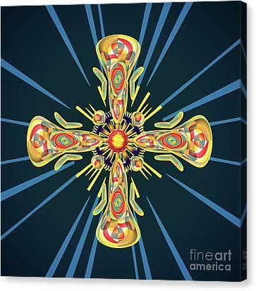 Jewelry Cross Canvas Print