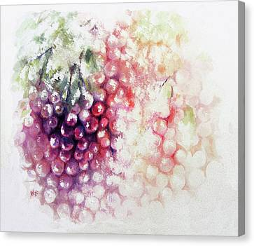 Jewels On The Vine Canvas Print by Rachel Christine Nowicki