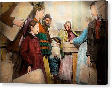 Jewish - Food For The Less Fortunate 1908 Canvas Print by Mike Savad