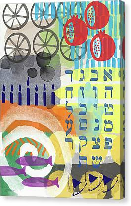 Hebrew Canvas Print - Jewish Life 1- Art By Linda Woods by Linda Woods