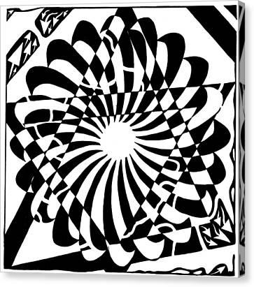 Jewish Pride Maze  Canvas Print by Yonatan Frimer Maze Artist