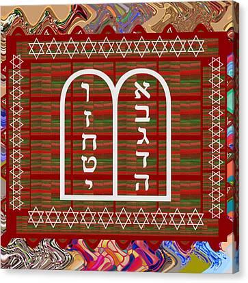 Jewish Religion Religious Celebrations Art Graphics By Navin Joshi Canvas Print