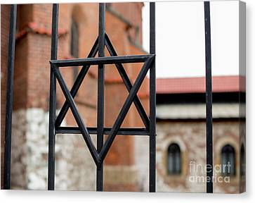 Judaic Canvas Print - Jewish Star by Juli Scalzi