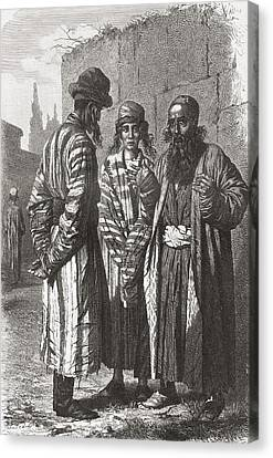 Orthodox Canvas Print - Jews Of Tashkent, Capital Of by Vintage Design Pics