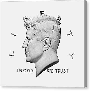 Jfk - In God We Trust Canvas Print