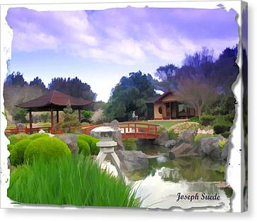 Canvas Print featuring the photograph Jg-0021 Kotaji Lantern by Digital Oil
