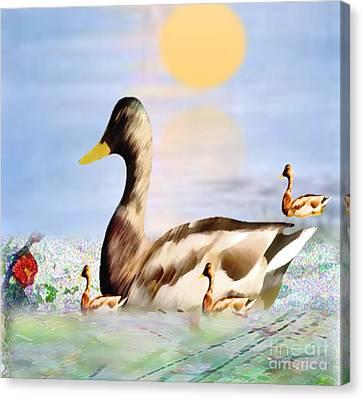 Jhot Summer Day Canvas Print by Belinda Threeths