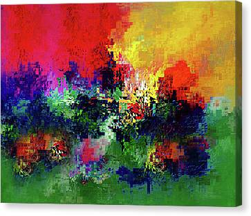 Intense Color Canvas Print - Jigsaw Of Life Abstract by Georgiana Romanovna