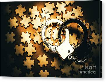 Jigsaw Of Misconduct Bribery And Entanglement Canvas Print by Jorgo Photography - Wall Art Gallery
