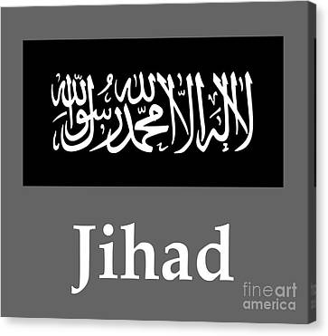 Jihad Flag And Name Canvas Print by Frederick Holiday