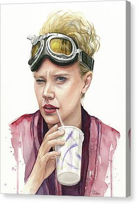 Jillian Holtzmann Ghostbusters Portrait Canvas Print by Olga Shvartsur