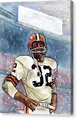 Jim Brown Canvas Print by Dave Olsen