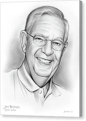Jim Byers Canvas Print by Greg Joens