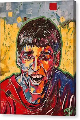 Jeff Daniels Canvas Print - Jim Carrey by Jay V Art