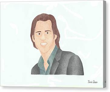 Jim Carey Canvas Print by Toni Jaso