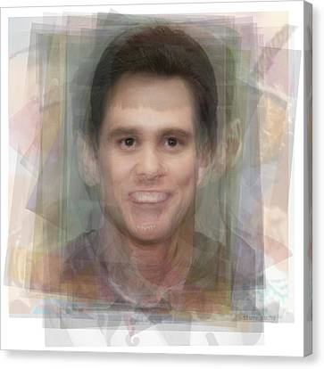 Jim Carrey Canvas Print by Steve Socha