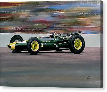 Jim Clark Indy 500 Canvas Print