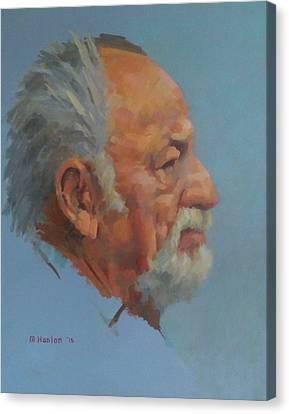 Jim Harrison Canvas Print by Mike Hanlon