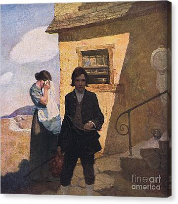 Jim Hawkins Leaves Home Canvas Print by Newell Convers Wyeth