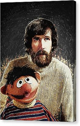 Jim Henson With Ernie Canvas Print by Taylan Apukovska