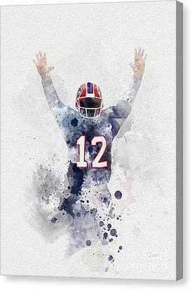 Fame Canvas Print - Jim Kelly by Rebecca Jenkins