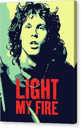 Jim Morrison . Legend Canvas Print - Jim Morrison by Greatom London