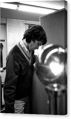 Jim Morrison Of The Doors Canvas Print by James Fortune