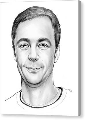 Jim Parsons Canvas Print by Greg Joens