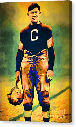 Jim Thorpe Vintage Football 20151220 Canvas Print by Wingsdomain Art and Photography