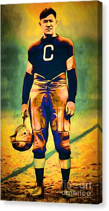Jim Thorpe Vintage Football 20151220long Canvas Print by Wingsdomain Art and Photography