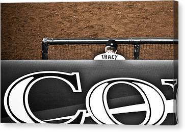 Jim Tracy Rockies Manager Canvas Print by Marilyn Hunt