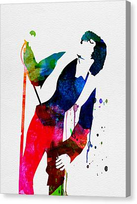 Jim Watercolor Canvas Print by Naxart Studio