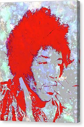 Jimi Hendrix 4c Canvas Print by Brian Reaves