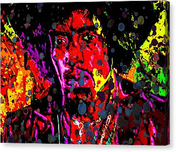 Jimi Hendrix Acid Rain Canvas Print by Brian Reaves