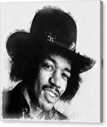 Jimi Hendrix By John Springfield Canvas Print by John Springfield