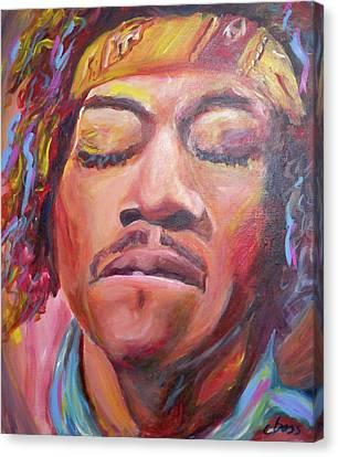 Jimi Hendrix Canvas Print by Carol Boss