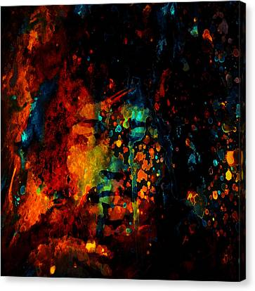 Jimi Hendrix Colorful World Canvas Print by Brian Reaves