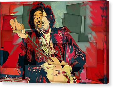 Experience Canvas Print - Jimi Hendrix Cubism by Dan Sproul