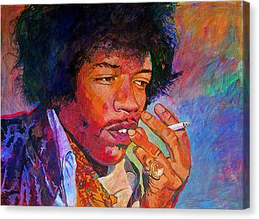 Jimi Hendrix Dreaming Canvas Print by David Lloyd Glover
