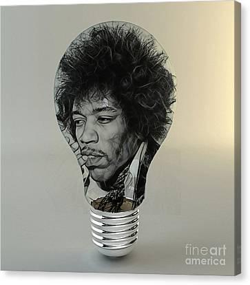 Light Canvas Print - Jimi Hendrix Electric by Marvin Blaine